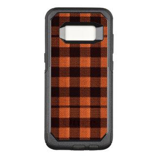 Capa OtterBox Commuter Para Samsung Galaxy S8 Olhar Checkered de serapilheira do teste padrão do