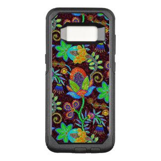 Capa OtterBox Commuter Para Samsung Galaxy S8 Olhar colorido da miçanga de vidro de teste padrão