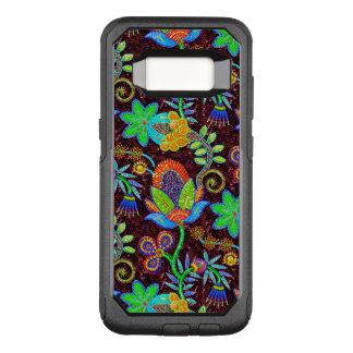 Capa OtterBox Commuter Para Samsung Galaxy S8 Olhar colorido da Vidro-Miçanga do teste padrão de