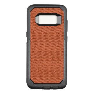 Capa OtterBox Commuter Para Samsung Galaxy S8 Olhar coral Salmon da malha do Weave