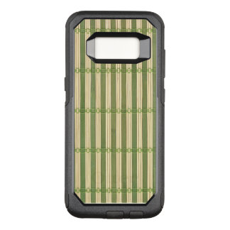 Capa OtterBox Commuter Para Samsung Galaxy S8 Olhar de bambu da textura da esteira do jade