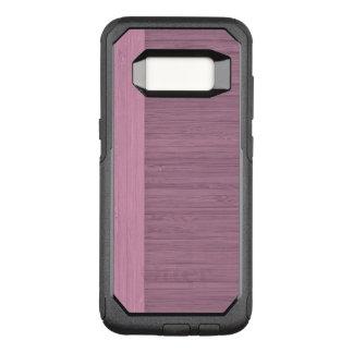 Capa OtterBox Commuter Para Samsung Galaxy S8 Olhar de madeira da grão da beira de bambu da