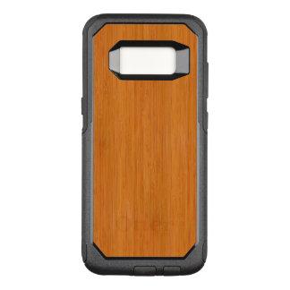 Capa OtterBox Commuter Para Samsung Galaxy S8 Olhar de madeira de bambu ambarino da grão