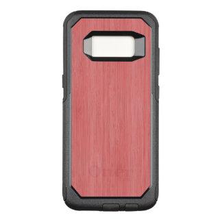 Capa OtterBox Commuter Para Samsung Galaxy S8 Olhar de madeira de bambu cor-de-rosa coral da