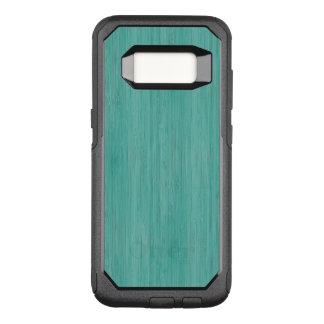Capa OtterBox Commuter Para Samsung Galaxy S8 Olhar de madeira de bambu da grão de água-marinha