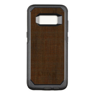 Capa OtterBox Commuter Para Samsung Galaxy S8 Olhar de madeira de bambu rústico da textura da