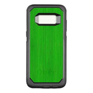 Capa OtterBox Commuter Para Samsung Galaxy S8 Olhar de madeira de bambu verde-claro da grão