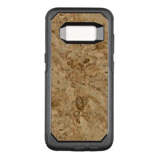 Capa OtterBox Commuter Para Samsung Galaxy S8 Olhar fóssil de mármore de Brown