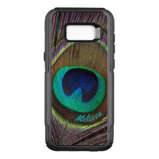 Capa OtterBox Commuter Para Samsung Galaxy S8+ Olho bonito da pena do pavão, seu nome