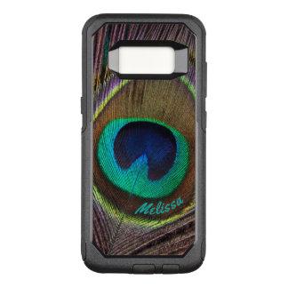Capa OtterBox Commuter Para Samsung Galaxy S8 Olho bonito da pena do pavão, seu nome