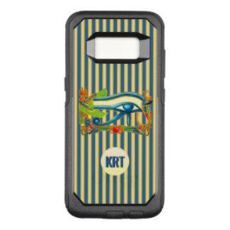 Capa OtterBox Commuter Para Samsung Galaxy S8 Olho do monograma de Horus no lazuli do ouro e de