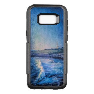 Capa OtterBox Commuter Para Samsung Galaxy S8+ Ondas azuis do farol e de oceano