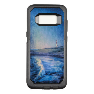 Capa OtterBox Commuter Para Samsung Galaxy S8 Ondas azuis do farol e de oceano