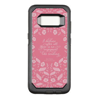 Capa OtterBox Commuter Para Samsung Galaxy S8 Orgulho floral de Jane Austen & citações Bookish