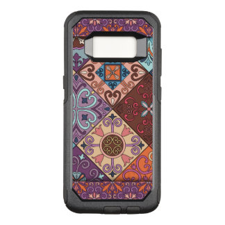 Capa OtterBox Commuter Para Samsung Galaxy S8 Ornamento de talavera do mosaico do vintage
