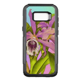 Capa OtterBox Commuter Para Samsung Galaxy S8+ Orquídeas cor-de-rosa coloridas