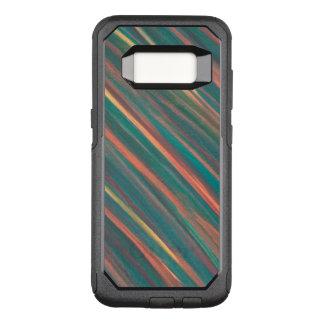Capa OtterBox Commuter Para Samsung Galaxy S8 Oxidação alaranjada do verde genuíno do monograma
