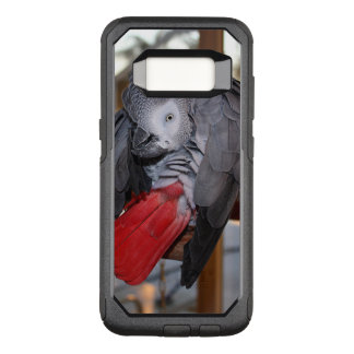 Capa OtterBox Commuter Para Samsung Galaxy S8 Papagaio flexível do cinza africano de Congo com