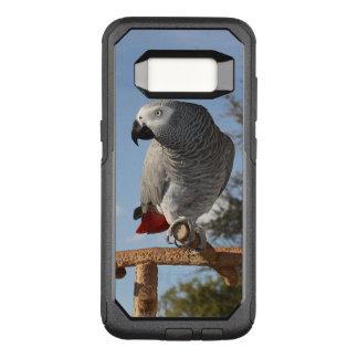 Capa OtterBox Commuter Para Samsung Galaxy S8 Papagaio impressionante do cinza africano