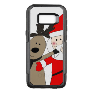 Capa OtterBox Commuter Para Samsung Galaxy S8+ Papai noel e rena alegres #1