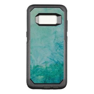 Capa OtterBox Commuter Para Samsung Galaxy S8 Papel com abstrato azul, verde, e preto da pintura