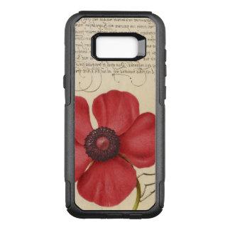 Capa OtterBox Commuter Para Samsung Galaxy S8+ Papoila vermelha e o inseto