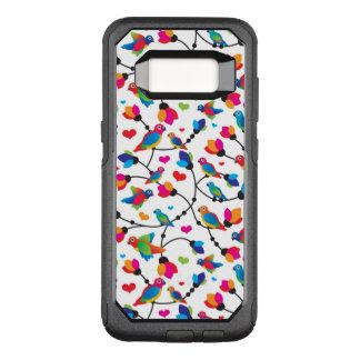 Capa OtterBox Commuter Para Samsung Galaxy S8 pássaro colorido bonito do papagaio