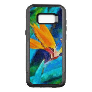 Capa OtterBox Commuter Para Samsung Galaxy S8+ pássaro da flor de paraíso