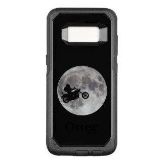 Capa OtterBox Commuter Para Samsung Galaxy S8 Pé grande, bicicleta grande e uma lua brilhante