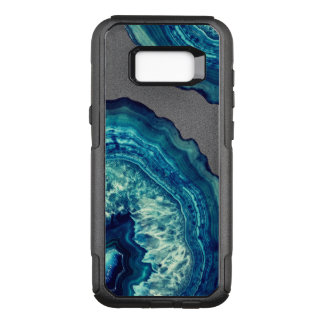 Capa OtterBox Commuter Para Samsung Galaxy S8+ Pedra bonito de Geode da ágata do azul e da