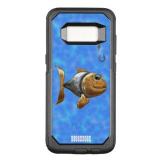 Capa OtterBox Commuter Para Samsung Galaxy S8 Peixes de prata dourados Sparkling com gancho de