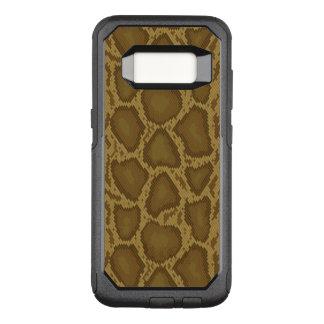 Capa OtterBox Commuter Para Samsung Galaxy S8 Pele de cobra, teste padrão do réptil