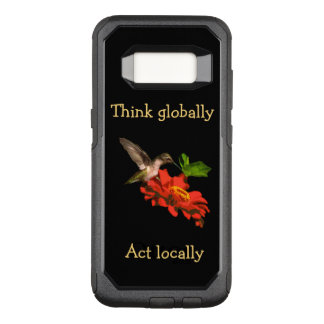 Capa OtterBox Commuter Para Samsung Galaxy S8 Pense global a caixa vermelha da galáxia S8 do ato