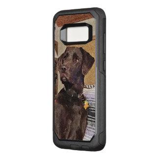 Capa OtterBox Commuter Para Samsung Galaxy S8 Perfil Textured Labrador considerável do chocolate