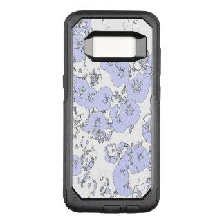 Capa OtterBox Commuter Para Samsung Galaxy S8 Petúnias azuis