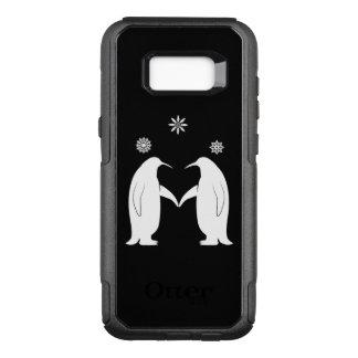 Capa OtterBox Commuter Para Samsung Galaxy S8+ Pinguins no amor com flocos de neve