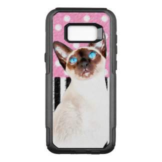 Capa OtterBox Commuter Para Samsung Galaxy S8+ Polca cor-de-rosa Siamese