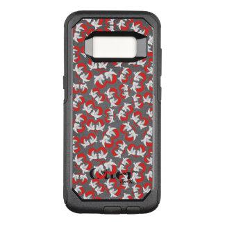 Capa OtterBox Commuter Para Samsung Galaxy S8 Pombas de paz da ilustração do teste padrão com