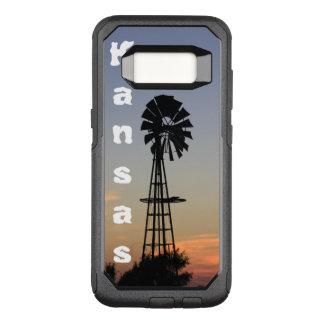 Capa OtterBox Commuter Para Samsung Galaxy S8 Por do sol de Kansas, galáxia feita sob encomenda