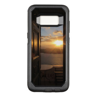 Capa OtterBox Commuter Para Samsung Galaxy S8 Por do sol de Santorini através da porta