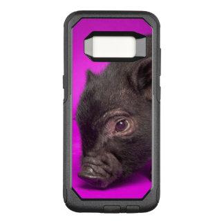 Capa OtterBox Commuter Para Samsung Galaxy S8 Porco preto do bebê