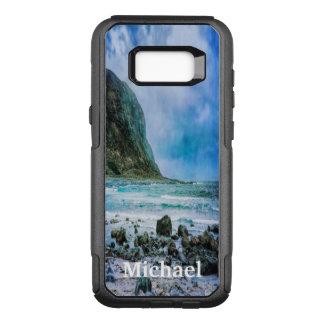 Capa OtterBox Commuter Para Samsung Galaxy S8+ Praia pelo oceano um o dia chuvoso