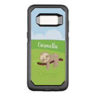 Capa OtterBox Commuter Para Samsung Galaxy S8 Preguiça sonolento personalizada