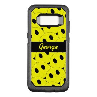 Capa OtterBox Commuter Para Samsung Galaxy S8 Preto amarelo feliz de sorriso dos smileys face