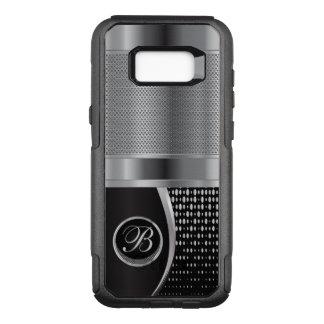 Capa OtterBox Commuter Para Samsung Galaxy S8+ Preto do monograma e malha metálica de prata