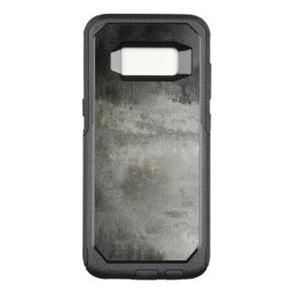 Capa OtterBox Commuter Para Samsung Galaxy S8 preto e branco abstrato do grunge da arte textured