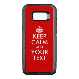 Capa OtterBox Commuter Para Samsung Galaxy S8+ Projete seu próprio branco mantêm a calma e o seu