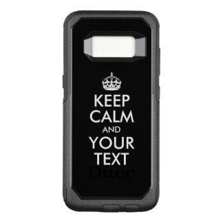 Capa OtterBox Commuter Para Samsung Galaxy S8 Projete seus próprios mantêm a calma e o seu texto