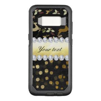 Capa OtterBox Commuter Para Samsung Galaxy S8 Quadro dos diamantes dos confetes dos cervos do