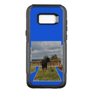Capa OtterBox Commuter Para Samsung Galaxy S8+ Quadros dimensionais da arte da vaca preta do